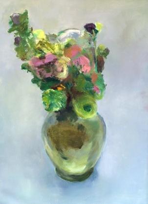 Glass Vase floral 40 x 30